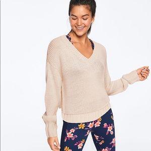 Victoria's Secret PINK V-neck Cable Knit Sweater